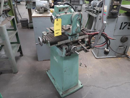 Foley Carbide Saw Grinder Model 357 (#216), LOCATION: TOOL ROOM
