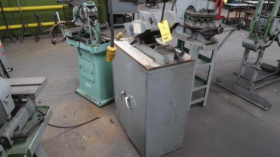 LOT: Richards Multiform Bench Saw Model CS, with Cabinet, LOCATION: TOOL RO