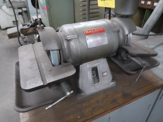 LOT: 6 in. Double End Tool Grinder, with (2) Cabinets (#1749), LOCATION: TO
