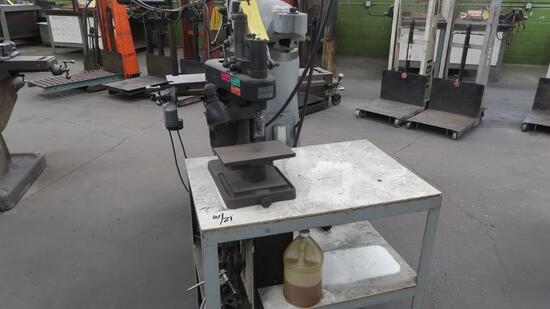 LOT: VariMatic 10 in. Precision Drill Press, with Table, LOCATION: TOOL ROO