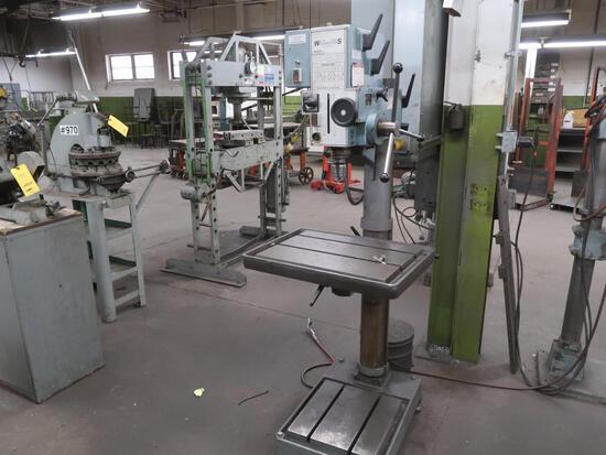 Wilton Strands 24 in. Drill Press Model 24513, 18 in. x 24 in. T-Slot Table
