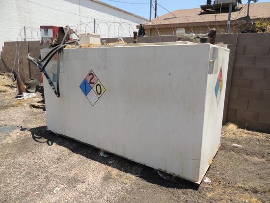 Fuel Tank, 1000 Gallon Fill-Rite Pump and Meter, LOCATION: 2435 S. 6th Ave., Phoenix, AZ 85003