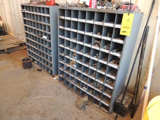 LOT: (2) 72-Compartment Bolt Bins w/ Misc. Hardware, LOCATION: 2435 S. 6th Ave., Phoenix, AZ 85003