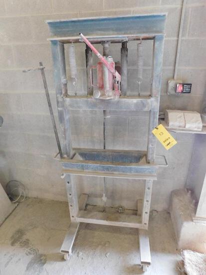 Manual Hydraulic Adjustable Bed H-Frame Shop Press