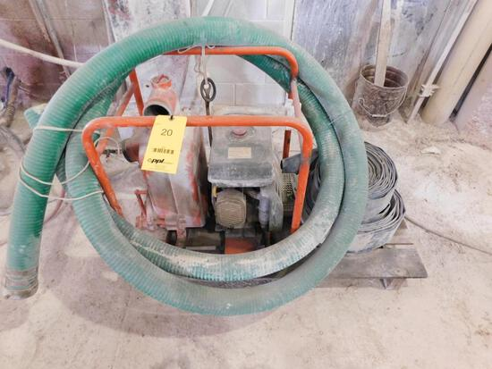 Portable 3 in. Gas Powered Trash Pump, with Hoses