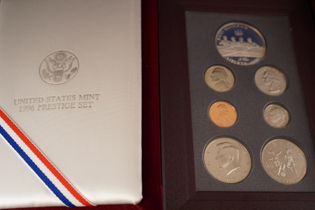 1996 United States Mint Prestige Proof Set, KEY date, with box and COA