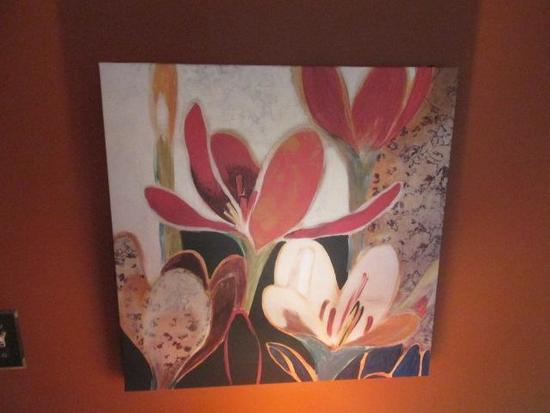 """FLORAL CANVAS PAINTING 24""""X24"""""""