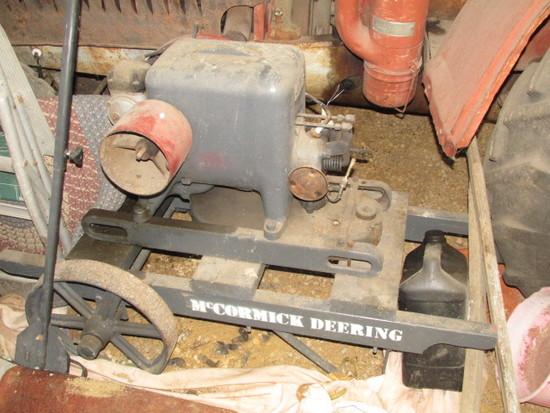 McCormick Deering 1.5 hp Throttling Engine on Cart