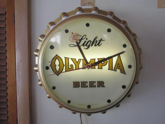 Light Olympia Beer Bottle Cap Light Nice