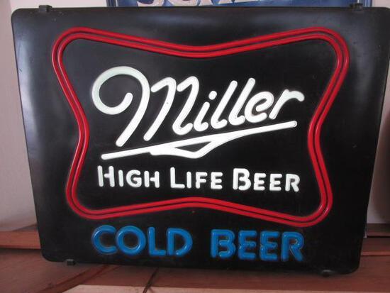 MILLER HIGH LIFE BEER SIGN