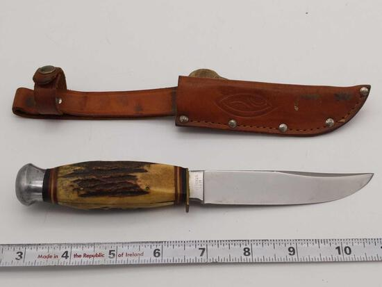 Premier Lifetime Germany H71 Stainless Knife Stag Handle & Sheath