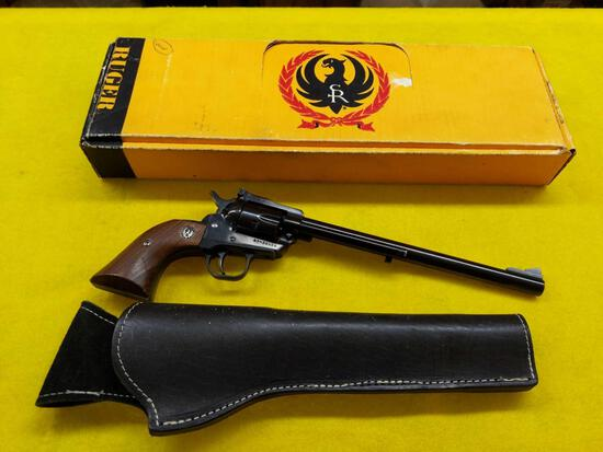 Ruger New Model Single Six .22 Cal Revolver w/Holster & Box - SN 67-38606