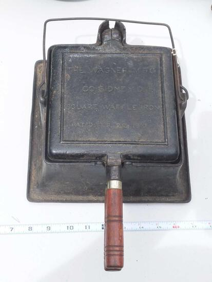 The Wagner Manufacturing Company Sidney O Square Waffle Iron patented February 22 1910
