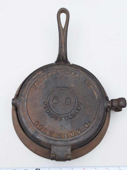 Patton MFG. Co. Columbus, O 8-9 PAT. OCT 30, 1883 Waffle Iron
