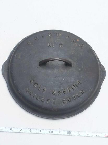 Griswold No 9 Self Basting Cast Iron Skillet Cover Patented Sept. 22, 1925 Erie, PA 1049