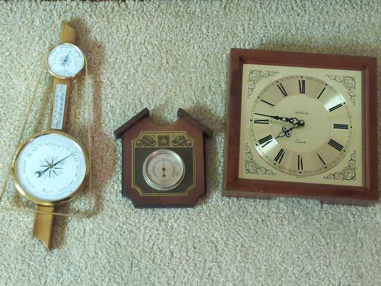 Barometer & Clock Lot