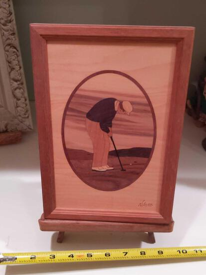 Hudson River Inlay Golfer by Nelson