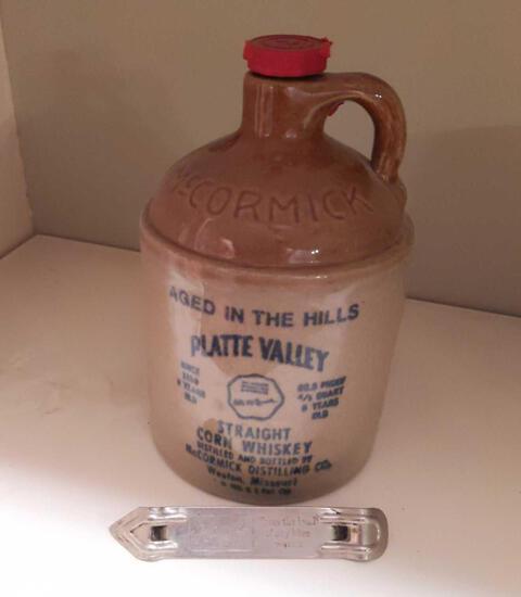 McCormick Jug Platte Valle Corn Wiskey w/ Hamm's Opener