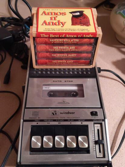 Windsor Cassette Player & Best of Amos & Andy