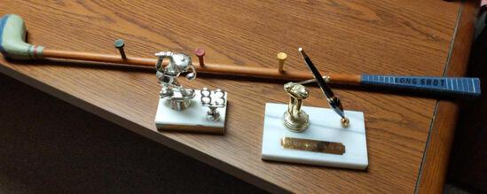 Golf Lot - Trophy, Pen & Club Decor