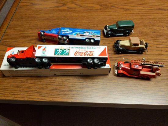 Coca-Cola, Quality Care Semi, Ertl Vintage & Hobby Car Fire Truck Lot