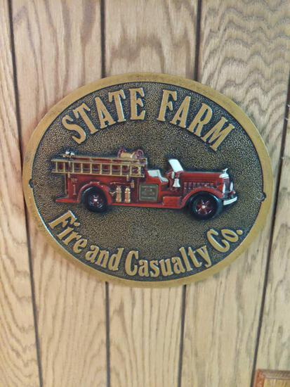 """State Farm Fire & Casualty Co. 11.5"""" Metal Sign"""