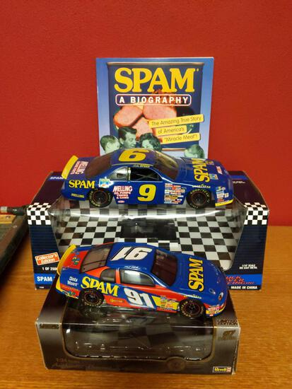 SPAM Nascar Cars Ertl 1/18 & Revell 1/24 & Spam Biography