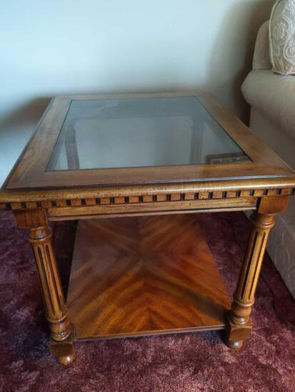 """Glass End Table 26""""x21"""""""