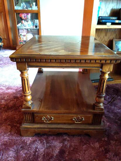 """Square End Table with Drawer 27""""x 22""""x 22"""""""