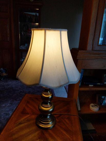 "Brass 3 Way Lamp 27"""