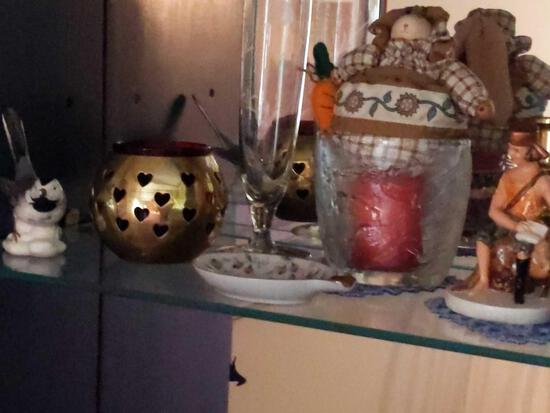Glass Bells, Candle Holders & Misc. Decor