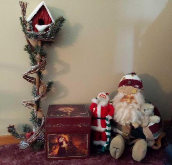 Christmas Decorations - Santa, Birdhouse & More