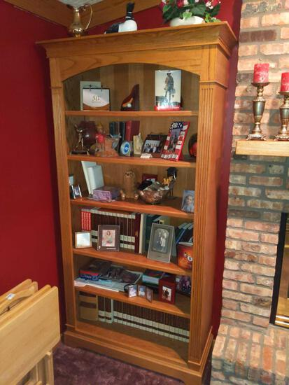 """Hand Made Oak Book Shelf 84"""" x 40"""" x 16"""" (Contents not included)"""