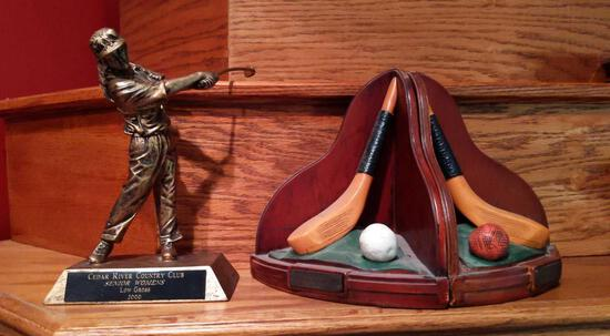 Golf Trophy & Bookends