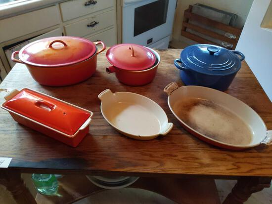 Le Creuset Cookware Lot