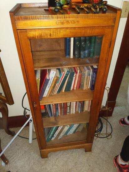 Glass Front Book Case 21x21x52