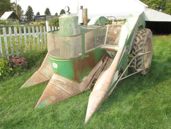 John Deere A, NF, w/JD227 Corn Picker
