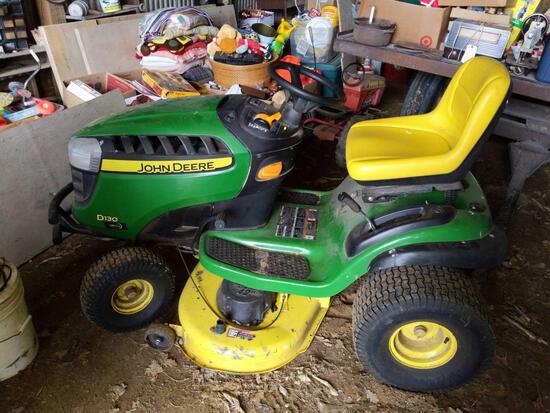 """John Deere D130 Mower 42"""" Deck 22 HP, 212 hrs. Lawn Tractor"""