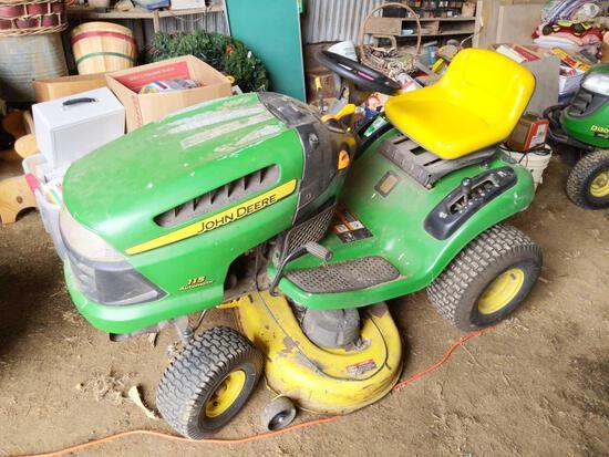 "John Deere 115 Automatic 42"" Deck 19HP Lawn Tractor"