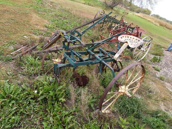 Emerson W558 One Bottom Horse Drawn Plow on Steel