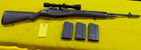Chinese M14 Sporter Rifle, with Scope Mount, Tasco 3x9x40 Golden Antler Scope & Synthetic Stock,