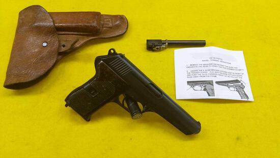 Czech Model CZ52, Semi-Auto 9x18, 6 Shot, Pistol with Holster, Cleaning Rod & Extra Magazine
