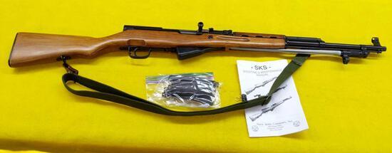 Chinese SKS, Model 56 Rifle, Sling, Spike Bayonet, 20 Round Magazine, SN-2400088A Matching