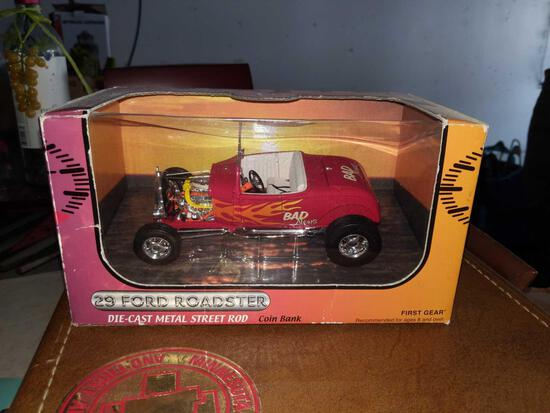 29 Ford roadster coinbank first gear