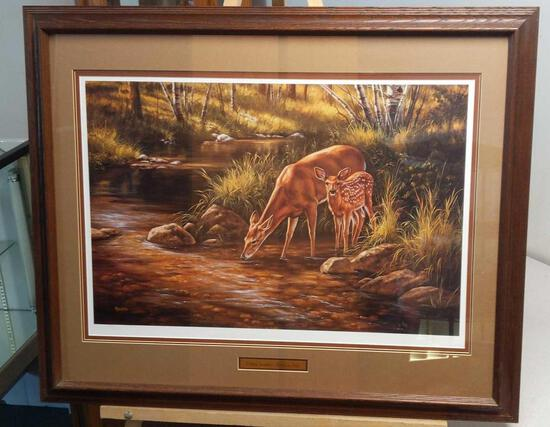 """Summer Shadows - Whitetail Deer by R. Millette 319/95033""""x27"""""""