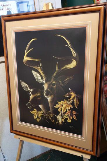 """Hayes' Buck"" by Tommy Humphrey 377/500 28""x35"""