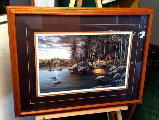 "Jim Hansel Campsite Print 5655/10000 33""x25"""
