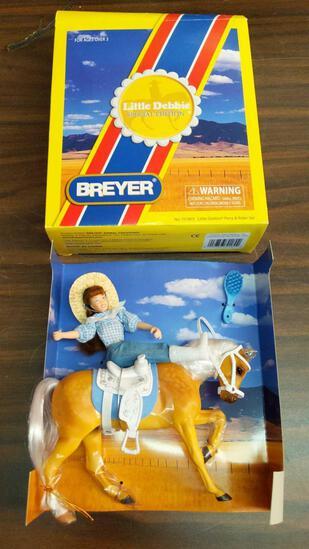 Little Debbie & Her Palomino Pony Ginger Breyer Horse