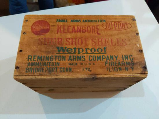 Wood ammo Box 14 x 9x 8 1/2