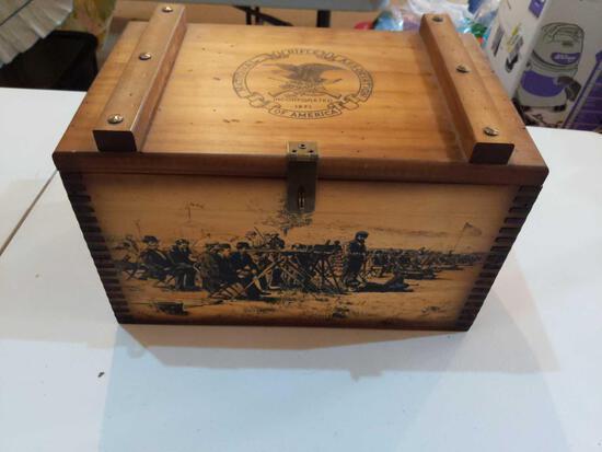 National Rifle Association Wood Box 16x 10x91/2